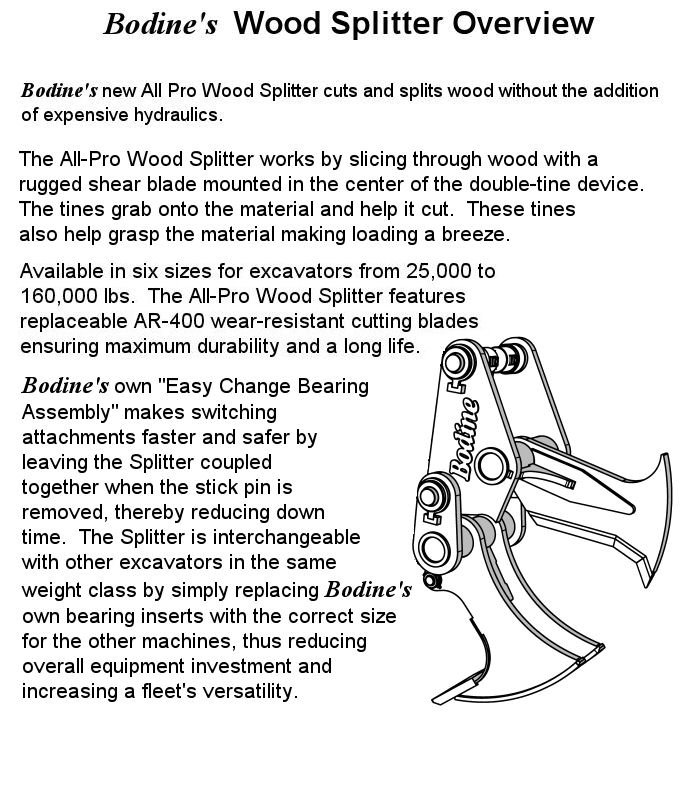 Bodine Mfg. All-Pro Wood Splitter Product Overview