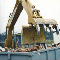 Bodine Grapple for the Demolition and Recycling Industries.